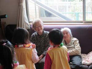保育園児と交流